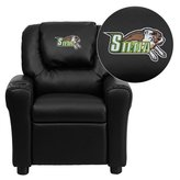 Flash Furniture Siena College Saints Embroidered Vinyl Kids Recliner with Cup Holder and Headrest