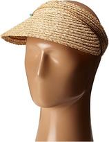 San Diego Hat Company RHV1503 Raffia Visor with Turqoise Trim Casual Visor