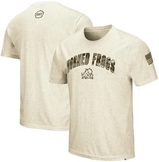 Colosseum Men's Oatmeal TCU Horned Frogs OHT Military Appreciation Desert Camo T-Shirt