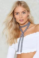 Nasty Gal nastygal Bad Wrap Gingham Choker