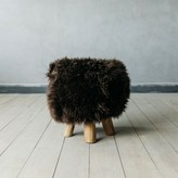 Graham and Green Shawn Sheepskin Stool In Brown