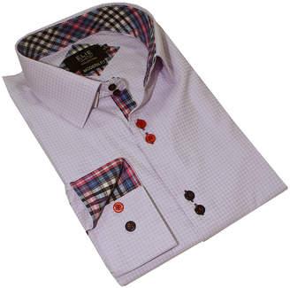 Elie Balleh Boys' Button Down Shirts LAVENDER - Lavender Gingham Color-Contrast Button-Up - Toddler