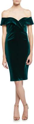 Bardot Bella Velvet Off-Shoulder Cocktail Dress