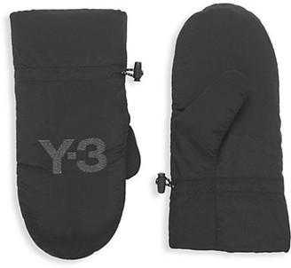 Y-3 2-Piece Logo Mittens