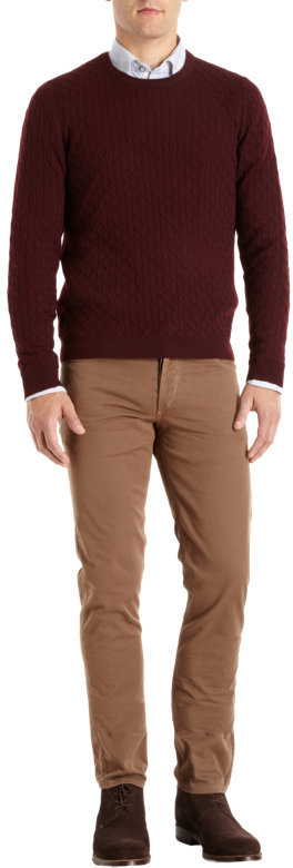 Rag and Bone Rag & Bone Cable Knit Sweater with Elbow Patches