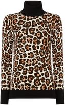 Michael Kors Animal print turtle neck
