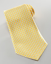 Salvatore Ferragamo Mini-Schnauzer Silk Tie, Yellow