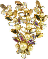 One Kings Lane Vintage Regency Crystal Floral Spray Brooch
