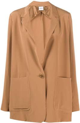 Aspesi Silk Single-Breasted Blazer