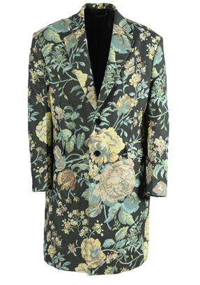 Givenchy Multicolored Floral Long Overcoat