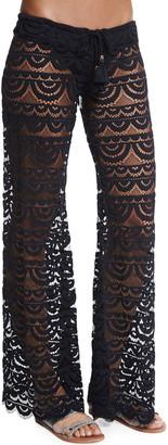 PQ Swim Malibu Embroidered-Lace Coverup Pants