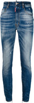 DSQUARED2 distressed skinny jeans - women - Cotton/Calf Leather/Polyester/Spandex/Elastane - 38