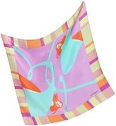 Laura Biagiotti Multicolor Print Satin Silk Bandana