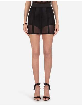 Dolce & Gabbana Short Corset Style Skirt In Elastic