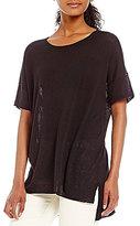 Eileen Fisher Round Neck Short Sleeve Tunic