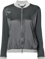 Fabiana Filippi contrast trim bomber jacket - women - Silk/Cotton/Spandex/Elastane - 42