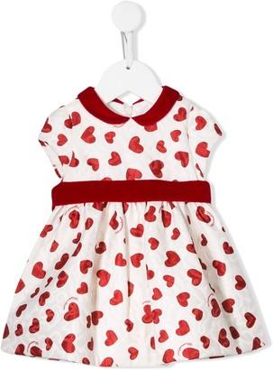 MonnaLisa Heart Print Dress