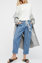 Free People Chambray Pull On Pants