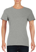 Lord & Taylor Petite Solid Short Sleeve T-Shirt