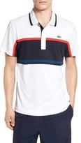 Lacoste Men's Sport Ultra Dry Stripe Chest Polo