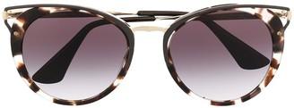 Prada Tortoiseshell-Effect Cat-Eye Sunglasses
