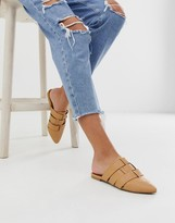 Qupid pointed weave mules