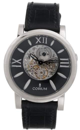 Corum Limited Edition Skylight 18K White Gold Skeleton 42.5mm Mens Watch