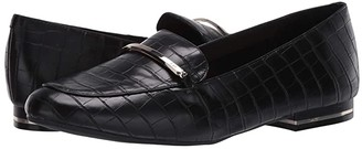 Kenneth Cole New York Balance Loafer Bar (Black Embossed) Women's Shoes