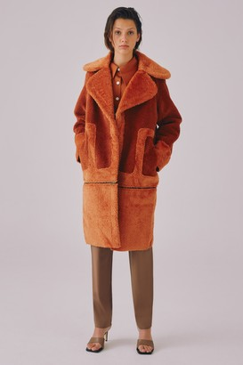 C/Meo GOING OUT COAT Rust