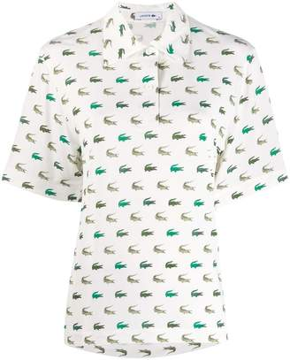 Lacoste Fashion Show printed polo shirt