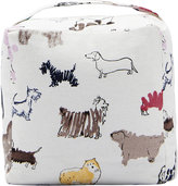 Joules Cube Cotton Door Stop - All Over Dog
