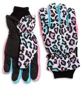 Capelli New York Thinsulated Leopard Print Gloves