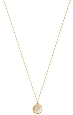 Bloomingdale's Kc Designs 14K Yellow Gold Diamond Hamsa Disc Necklace, 16