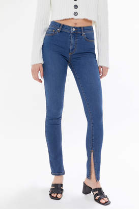 BDG Twig Split-Ankle Mid-Rise Skinny Jean Medium Wash
