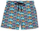 Vilebrequin Moonrise Mid-Length Printed Swim Shorts