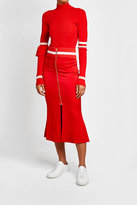 Maggie Marilyn Crepe Skirt with Fluted Hem