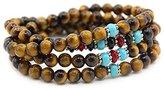 KISSPAT Natural Gemstone Bead Wrap Bracelet Crystal Chakra Stone Bracelet For Women