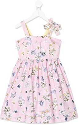 Il Gufo butterfly-print A-line dress