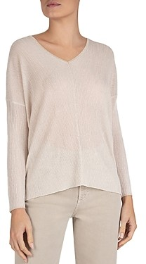 Gerard Darel Long-Sleeve V-Neck Knit Sweater