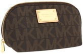 MICHAEL Michael Kors Jet Set Large Cosmetic (Brown) - Bags and Luggage