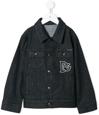 Dolce & Gabbana Kids Logo-Embroidered Denim Jacket