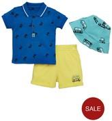 Ladybird Baby Boys Sun Hat, Polo And Short Set