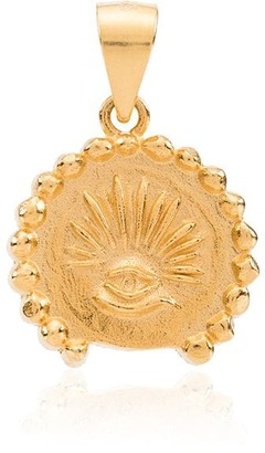 Anni Lu gold plated sterling silver Love Seeks pendant