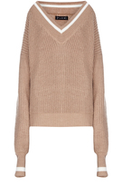 Flow The Label Oversized V-Neck Tennis Sweater