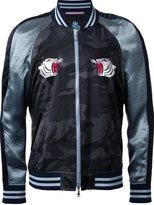 GUILD PRIME embroidered tiger bomber jacket - men - Acetate - 2