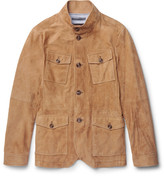 Michael Kors Slim-Fit Nappa Suede Field Jacket