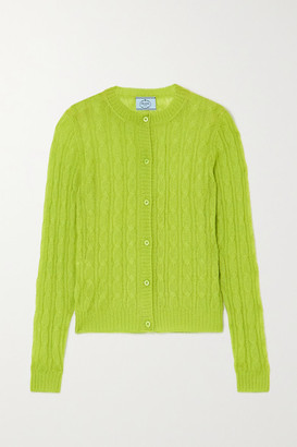 Prada Cable-knit Cardigan - Green