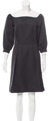 Chloé Off-The-Shoulder Mini Dress