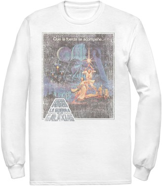 Star Wars Men's Faded VHS Cover Tee
