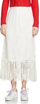 Maje Jilane Lace Midi Skirt